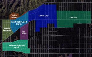 WeHo Neighborhoods Map